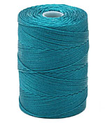 C-Lon Teal Fine Weight (.4mm) Bead Cord
