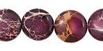 Purple Impression Jasper Puff Coin 16mm