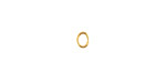 Gold (plated) Oval Jump Ring 5x4mm, 20 gauge