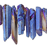 Metallic Cosmos Quartz Point Drop 4-10x15-48mm