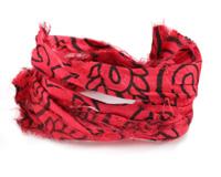 Cherry Paisley Print 100% Silk Sari Ribbon