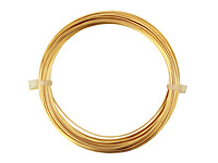 German Style Wire Gold Color Round 22 gauge, 10 meters