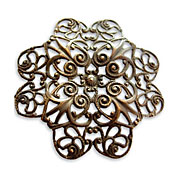 Vintaj Natural Brass Full Gerbera Petal Filigree 51mm