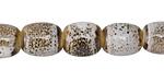 Birch w/ Speckles Porcelain Barrel 12x10mm