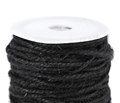 Black Unpolished Hemp Twine 2mm