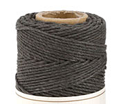 Dark Gray Hemp Twine 20 lb, 205 ft