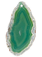 Lagoon Agate Freeform Slice w/ Natural Edge Focal 25-45x55-82mm