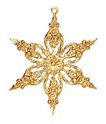 Brass Poinsettia Filigree 42x51mm