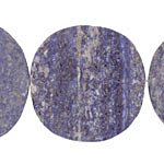 Lapis (matte) Flat Freeform Coin 43-53x40-55mm