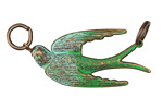 Vintaj Vogue Natural Brass Soaring Sparrow 18x51mm