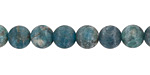 Pacific Blue Apatite (matte) Round 8mm