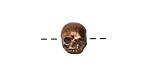 Green Girl Antique Bronze Tiny Skull 10mm