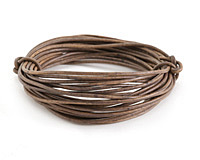 Natural Gray Round Leather Cord 1.5mm