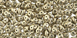 ColorTrends: Sueded Gold Cloud Dream SuperDuo 2x5mm Seed Bead