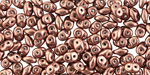 ColorTrends: Sueded Gold Ash Rose SuperDuo 2x5mm Seed Bead