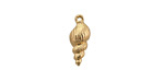 Zola Elements Matte Gold Finish Conch Shell Charm 6.5x15.5mm