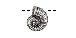Zola Elements Antique Silver Finish Ammonite Focal 14x17mm