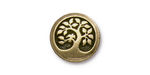 TierraCast Antique Brass (plated) Bird In A Tree Button 16mm