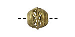 African Brass Corrugated w/ Zig Zag Round (large hole) 11-12x12-13mm