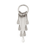 Zola Elements Antique Silver Finish Long Teardrop Graduated Paddle Set on Ring 12x42mm