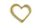 Vintaj Antique Brass (plated) Asymmetrical Heart Ring Blank 24x23mm