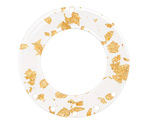 Zola Elements Gold Foil Acetate Donut Chandelier 38mm