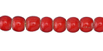 African Trade Beads Red White Heart Glass 7-9mm