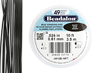 "Beadalon Black .024"" 49 Strand Wire 10ft."