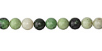 Grass Green Turquoise Round 6-7mm