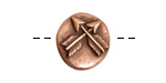 Nunn Design Antique Copper (plated) Round Crossed Arrow Button 17x18mm