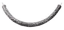 Zola Elements Antique Silver (plated) Large Patterned Focal Slide 105x48mm