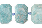 Brazil Amazonite Faceted Flat Slab 14-17x20-24mm