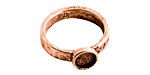 Nunn Design Antique Copper (plated) Hammered Itsy Circle Ring Size 8