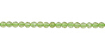 Peridot Diamond Cut Faceted Round 3mm