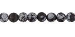 Snowflake Obsidian (matte) Round 6mm