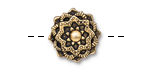 TierraCast Antique Gold (plated) Mandala Button 16.5mm
