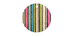 Rainbow Striped Etched & Printed Gold Finish Coin Focal 20mm