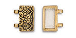 TierraCast Antique Gold (plated) Temple Magnetic Clasp Set 17x13mm
