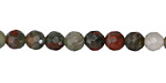 African Bloodstone Faceted Round 6mm
