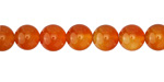 Carnelian (natural-orange) Round 8mm