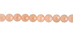 Peach Moonstone Faceted Puff Coin 5mm