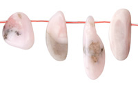 Pink Opal Freeform Drop 7-15x18-45mm