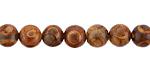Tibetan (Dzi) Agate Red-Brown Round 8mm