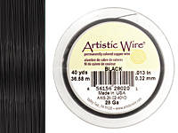 Artistic Wire Black 28 gauge, 40 yards
