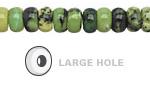 China Chrysoprase Rondelle (Large Hole) 8mm