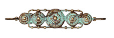 Vintaj Vogue Natural Brass Rowed Medallions 66.5x13mm