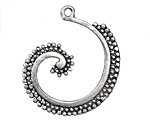 Zola Elements Antique Silver (plated) Seaspray Swirl Focal 32x38mm