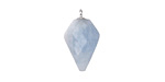 Aquamarine Faceted Arrow Pendant w/ Silver Finish 11-12x19-20mm