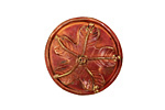 Patricia Healey Copper Floral Button 24mm