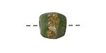 African Powder Glass (Krobo) Green w/Band Tumbled Round 10-12mm